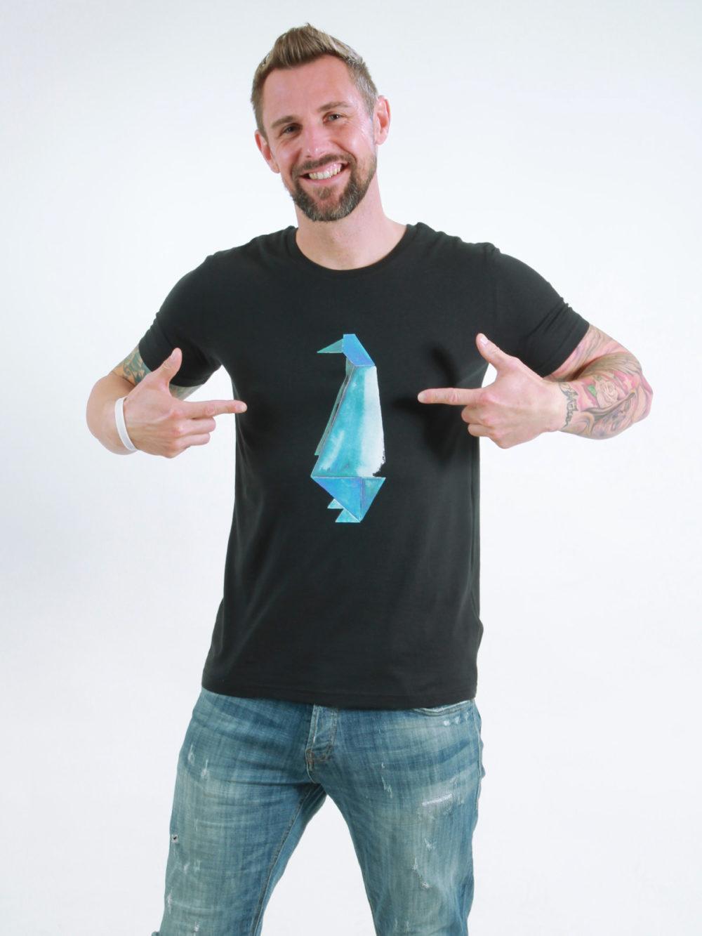 T-Shirt Man Pinguin black