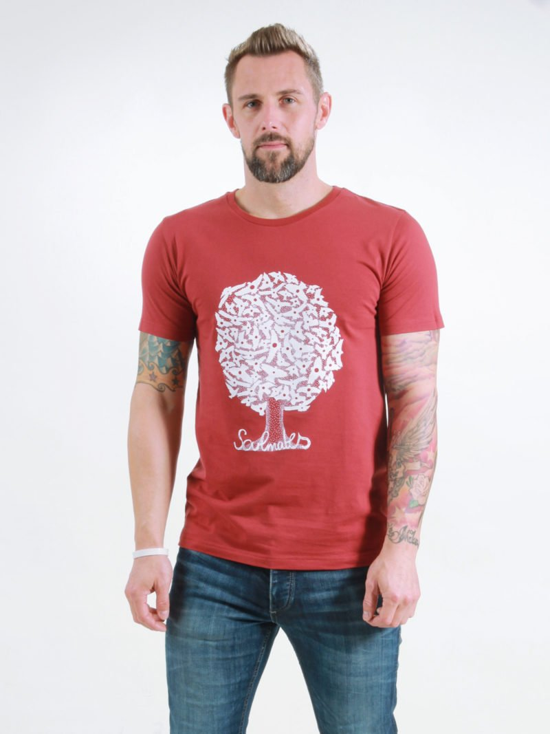 T-Shirt Man Soulmates burning red