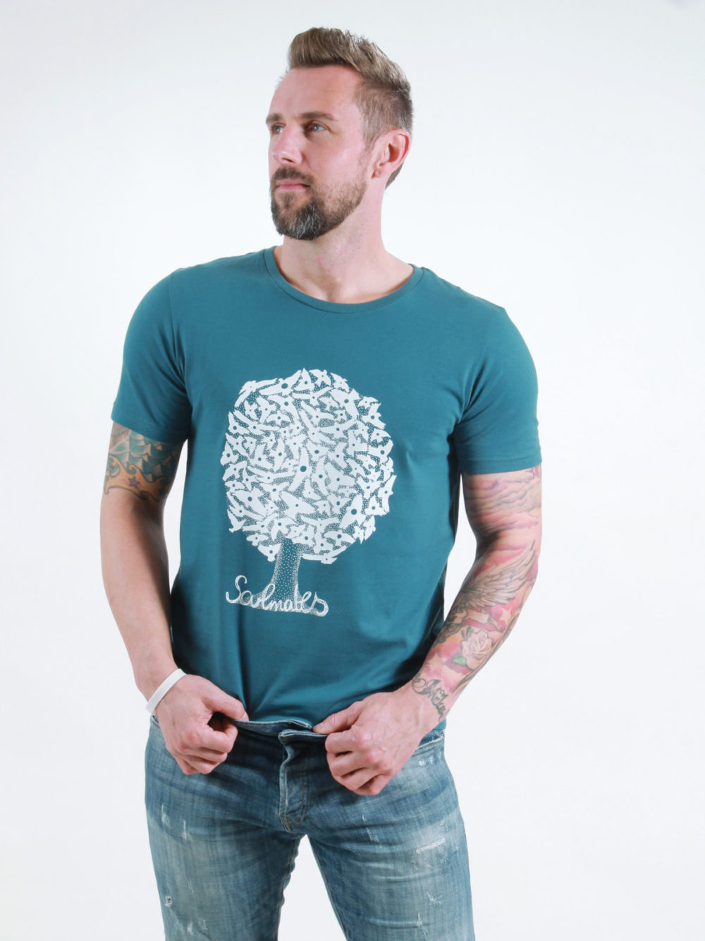 T-Shirt Man Soulmates deep teal