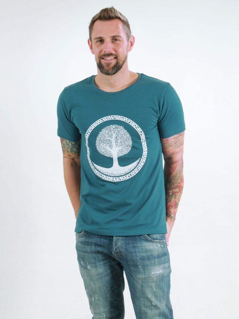 T-Shirt Man Tree deep teal