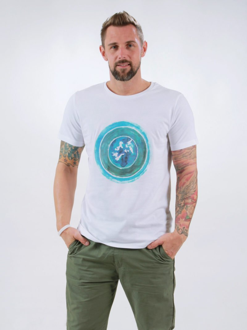 T-Shirt Man World white