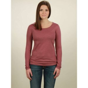 basic longsleeve damen berry