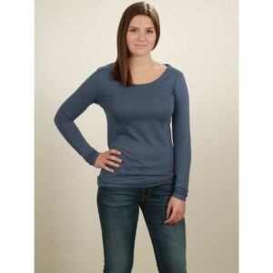 basic longsleeve damen dark blue