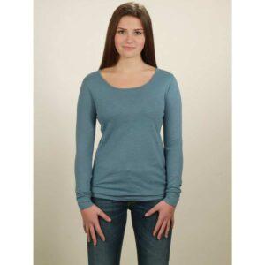 basic longsleeve damen light blue