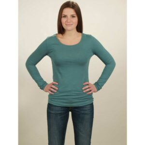basic longsleeve damen light turquoise