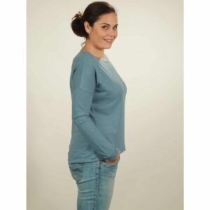 oversize longsleeve damen light blue