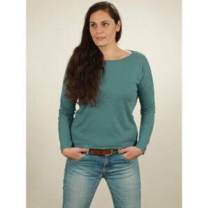 oversize longsleeve damen light turquoise