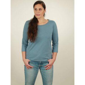 3/4 longsleeve damen light blue