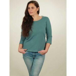 3/4 longsleeve damen light turquoise