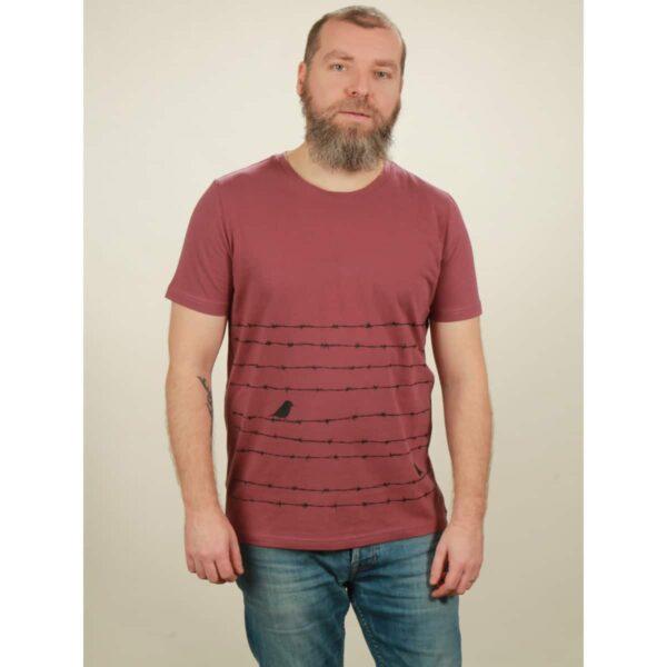 t-shirt herren barbwire berry