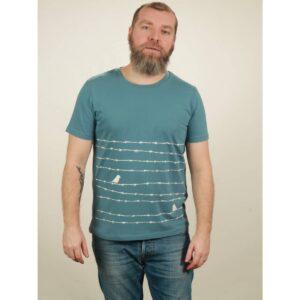 t-shirt herren barbwire light blue