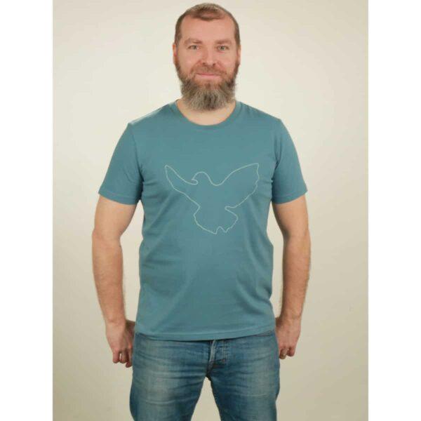 t-shirt herren dove light blue