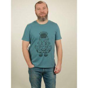 t-shirt herren inka light blue