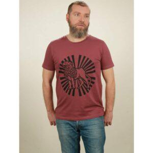 t-shirt herren lion sun berry