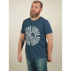 t-shirt herren lion sun dark blue
