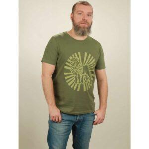 t-shirt herren lion sun green