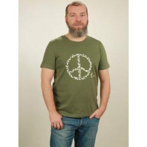 t-shirt herren peace green