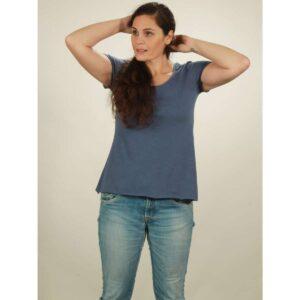 slub shirt damen dark blue