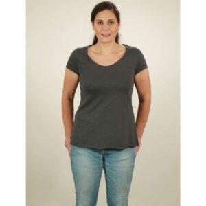 slub shirt damen dark grey