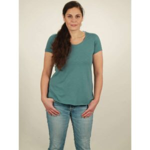 slub shirt damen light turquoise