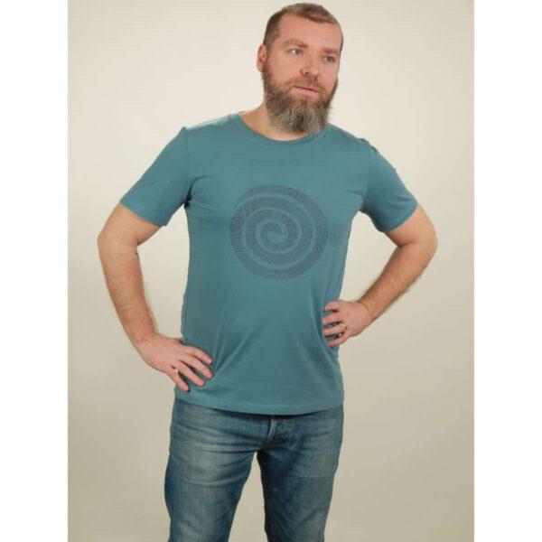 t-shirt herren snake light blue