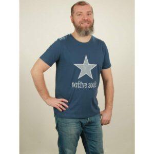 t-shirt herren star dark blue