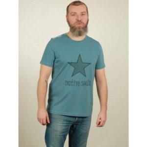 t-shirt herren star light blue