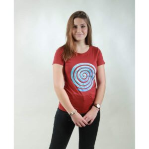 t-shirt damen loop red