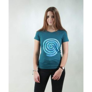 t-shirt damen loop teal