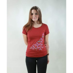 t-shirt damen new dragonfly red