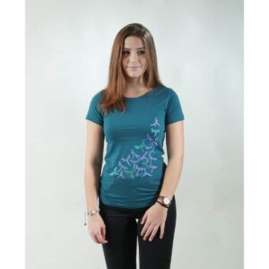 t-shirt damen new dragonfly teal