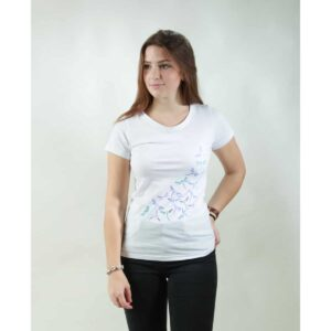 t-shirt damen new dragonfly white