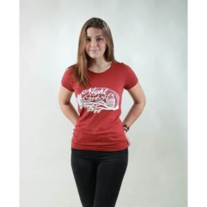 t-shirt damen night owl red