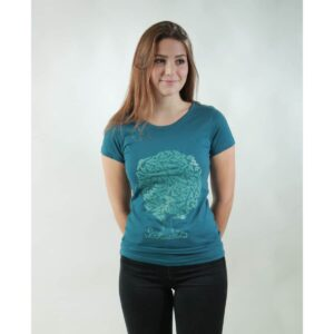 t-shirt damen soulmates teal