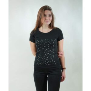 t-shirt damen stars black