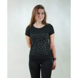 t-shirt damen stars black