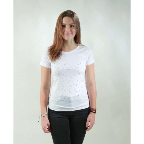 t-shirt damen stars white