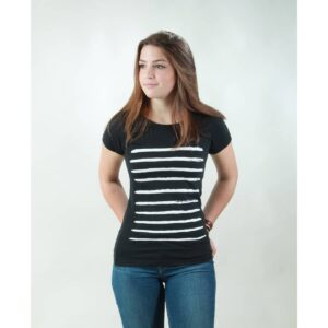 t-shirt damen stripes black