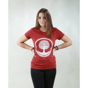 t-shirt damen tree red