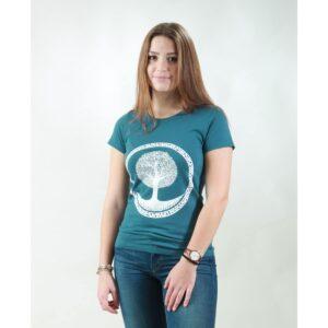 t-shirt damen tree teal