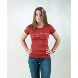 t-shirt damen whale red