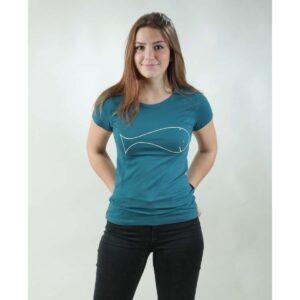t-shirt damen whale teal