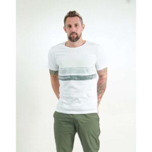 t-shirt herren big stripes white