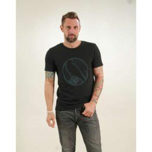 t-shirt herren crow black