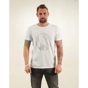 t-shirt herren crow white