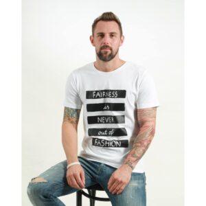 t-shirt herren fair white