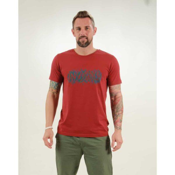 t-shirt herren invisible red