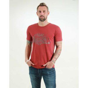 t-shirt herren night owl red