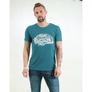 t-shirt herren night owl teal