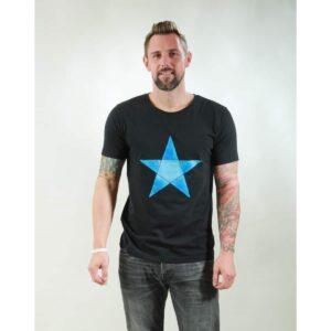 t-shirt herren origami star black